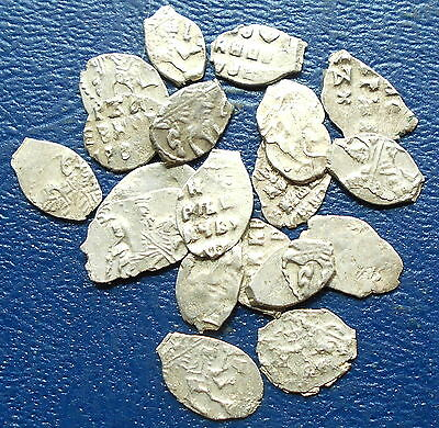 "Lot (1) Silver 1689-1725 Russia Peter I ""The Great"" Wire Kopeck Horse & Spear #C"