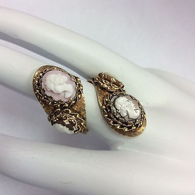 14K Yellow Gold Cameo Ring Size 5.5