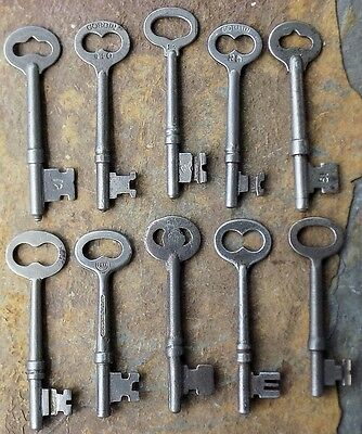 10  Antique Mortise Lock Skeleton Keys For  Antique & Vintage  Doors