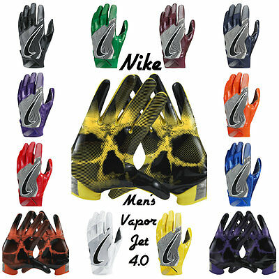 Mens Nike Vapor Jet 4.0 Football Gloves Style: Gf0491 Asst. Colors & Sizes *nwt*