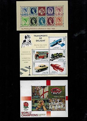 Complete Year Set  2003  Miniature Sheets  Ms2367  Ms2402  Ms2416     Mnh