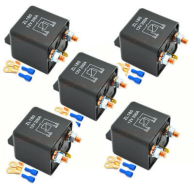 12V 200A Heavy Duty Split Charge ON/OFF Relay Car Truck Boat Van w/ Teminals USA