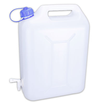 Very practical 10 Liters plastic water cans with Faucet for on the go