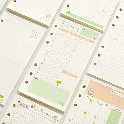 A5/A6 Month Week Ruled Colourful Planner Diary Insert Refill Schedule Organiser