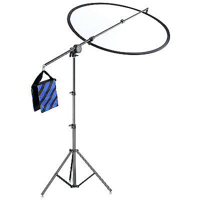 Neewer Reflector Arm Stand Kit(Light Stand+Reflector Arm Boom+Clamp Pivot)