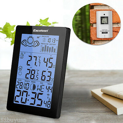 LCD Wireless Weather Station Precision Forecast Temperature Humidity Barometer