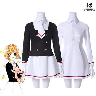 Cardcaptor Sakura Tomoyo Outfit Junior High School Uniform Dress Cosplay Costume