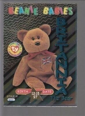 TY beanie Babies Series 3 Birthday Card Britannia Teal #33