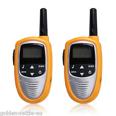 2x 8 Canal Lits LED 5KM Gamme PMR Talkie Walkie Double Band UHF400-470MHZ Radio