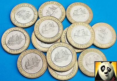 2005-2013 Gibraltar Battle of Trafalgar £2 Two Pound Choice of Years Circ. Cond.