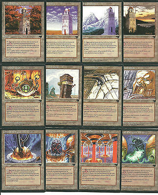 mtg Magic 12x SET Urza's / 4 Tower +4 mine +4 plant ( Rinascimento ) Good Pack