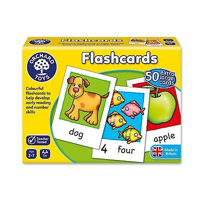 Flashcards Words and Numbers 50 Large Kids Educational Card Game Orchard Toys