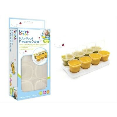 Baby Freezing Cubes Weaning Food Tray Pots Freezer Storage Containers BPA Free