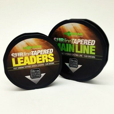 Korda Subline Tapered Main Line Or Leaders - All The Sizes