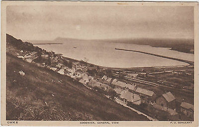 UK Old Postcard Wales Goodwick General view  (947)