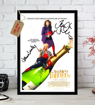 Jennifer Saunders Absolutely Fabulous Movie Poster Autograph Signed Print 12X8