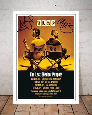 The Last Shadow Puppets 2016 Concert Flyer Autographed Signed Photo Print