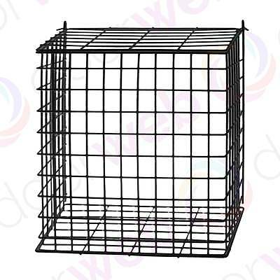 BLACK LETTER CAGE Post Box Door Catcher Mail Letter Guard Basket Box EXTRA LARGE