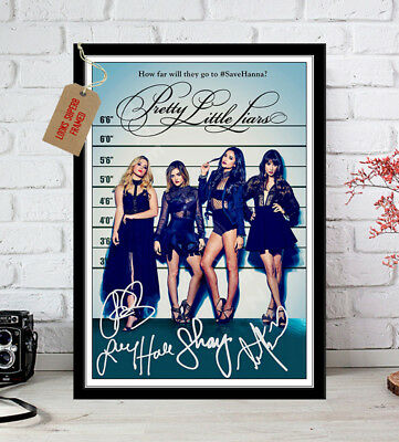 Pretty Little Liars S7 Cast Autographs Signed Photo Print 12X8