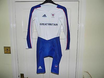 MENS Adidas GB OLYMPIC Team Issue LS Skinsuit - cycling bike padded shorts
