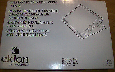 Eldon 4603 Footease Adjustable Footrest, Platinum, 19w x13d x3h