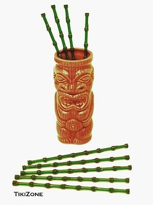 25 lot of Bamboo Tiki Cocktail Swizzles - Tropical Bar Party Stirrers/Stirs