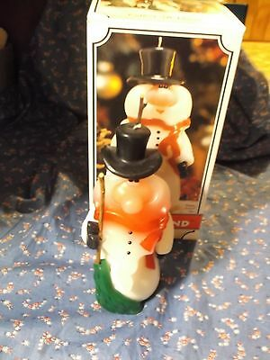 "Christmas Candle Made in Candleland Holiday Snowman  About 6"" High"