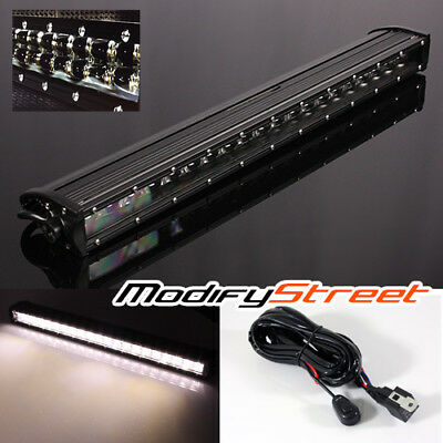 """20"""" 120W Philips Led Straight Slim Double Row Reflector Light Bar/switch Harness"""