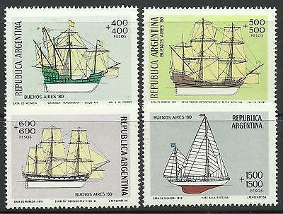 ARGENTINA. 1979. Stamp Exhibition (Shipping) Set. SG: 1646/49 Mint Never Hinged