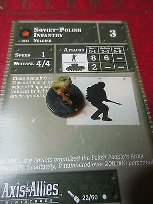 Axis and Allies Eastern Front Soviet-Polish Infantry