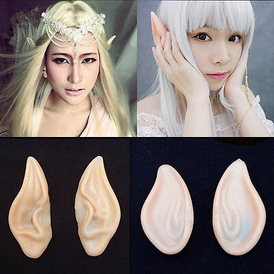 Halloween Party Cosplay Accessories Latex Fairy Pixie Elf Ears Prosthetic Tips