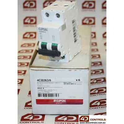 Clipsal 4CB263/6 6kA 63A Miniature Circuit Breaker (Grey), Double Pole - New ...