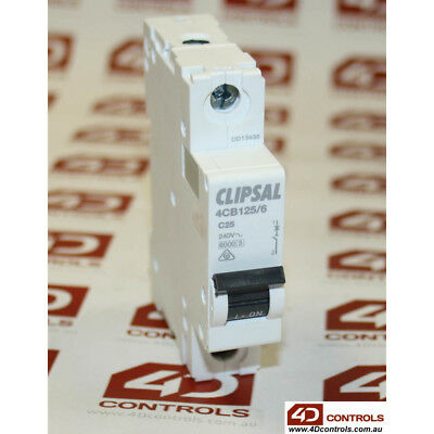 Clipsal 4CB125/6 Miniature Circuit Breaker 240V 25A - New Surplus Open
