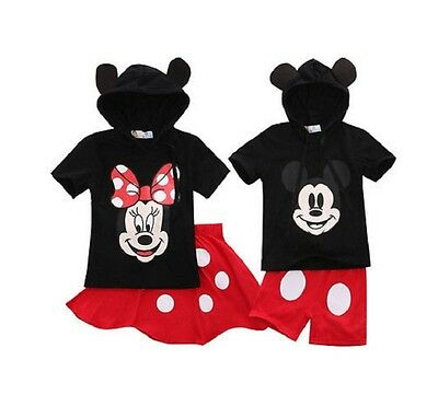 New Boys Gilrs mickey/Minnie mouse Costume set Outfit Clothes Size 1-5yrs