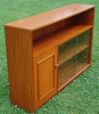 Vintage Retro Glazed Bookcase & Cupboard -  Stateroom By Stonehill Furniture