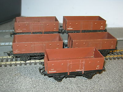 5 Hornby Dublo OO Gauge BR 13 Ton Mineral Wagons
