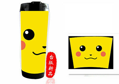 Pokemon Go Pikachu Travel Cup Mug Reusable Insulated Beverage Seal Water Bottle