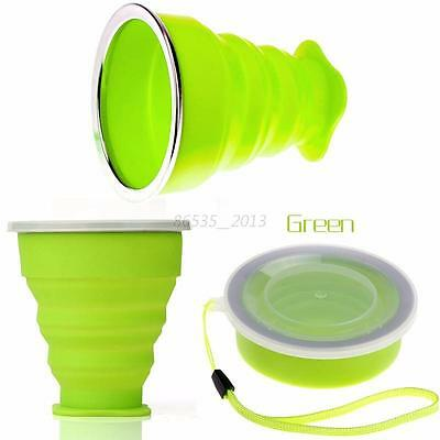 1Pcs Portable Outdoor Silicone Foldable Cup Collapsible Drink Travel Water Mug