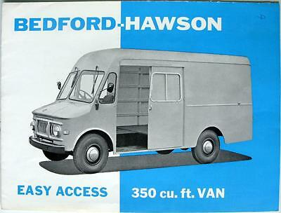 BEDFORD Hawson Easy Access 350 Cu.ft - Sales Brochure - Sep 1962 - B.928/9/62