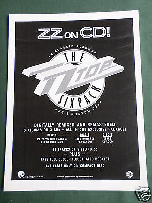 Z Z Top - Magazine Clipping / Cutting- 1 Page Advert