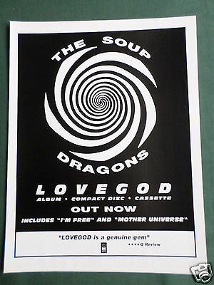 The Soup Dragons - Magazine Clipping / Cutting- 1 Page Advert