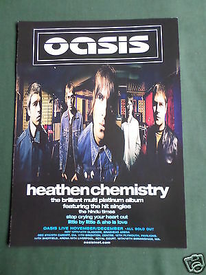 Oasis - Magazine Clipping / Cutting- 1 Page Advert