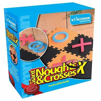 Kingfisher Giant Noughts and Crosses Outdoor Summer Garden BBQ Game Set
