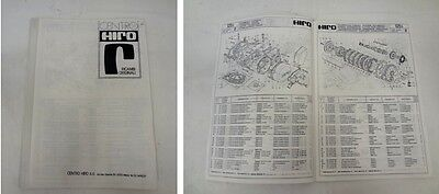 Spaccato ricambi - manual spare parts HIRO 125 S - ita ing fra ted
