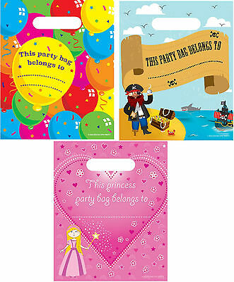 Party / Loot Bags Childrens/Boys/Girls pack of 8 Balloons/Princess/Pirate.