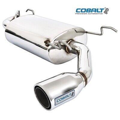 Mazda Mx5 MK2-2.5 Exhaust Silencer Stainless Steel - Cobalt - Single Exit
