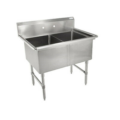 John Boos 2B184 Two Compartment Sink