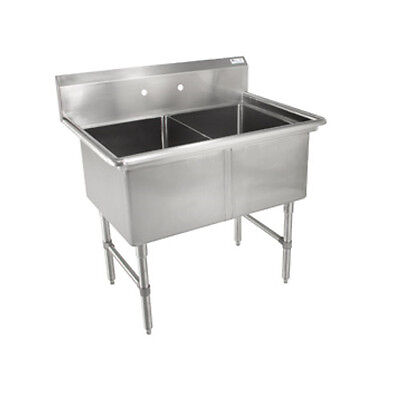 John Boos 2B244 Two Compartment Sink