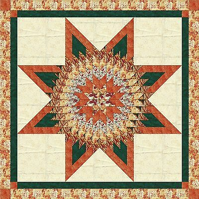 ORANGE BLOSSOM STAR QUILT TOP - Not Quilted