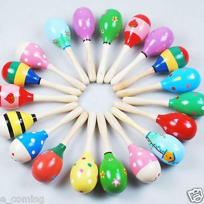 Mini Wooden Ball Children Toys Handcrafted Toys Musical Instruments Sand Hammer